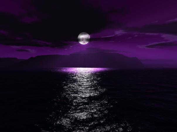 full moon purple